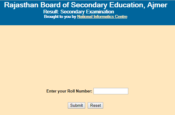 RBSE 10th Result 2019