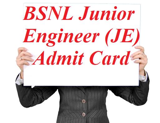 BSNL JE Admit Card 2021