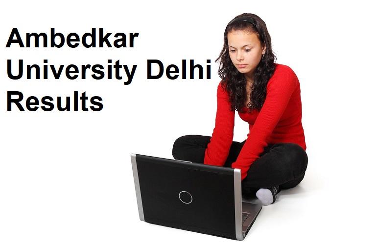 Ambedkar University Delhi Result 2021