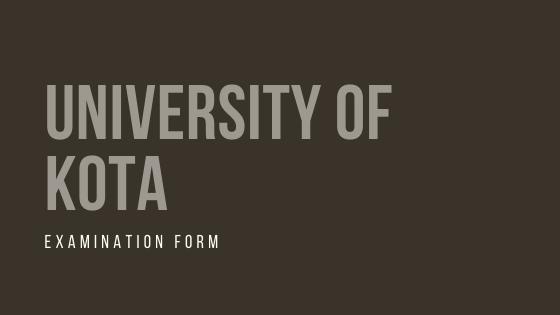 UOK Exam Form 2021