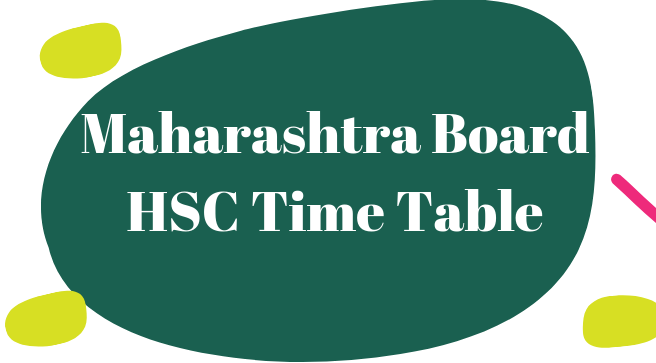 Maharashtra HSC Time Table 2021