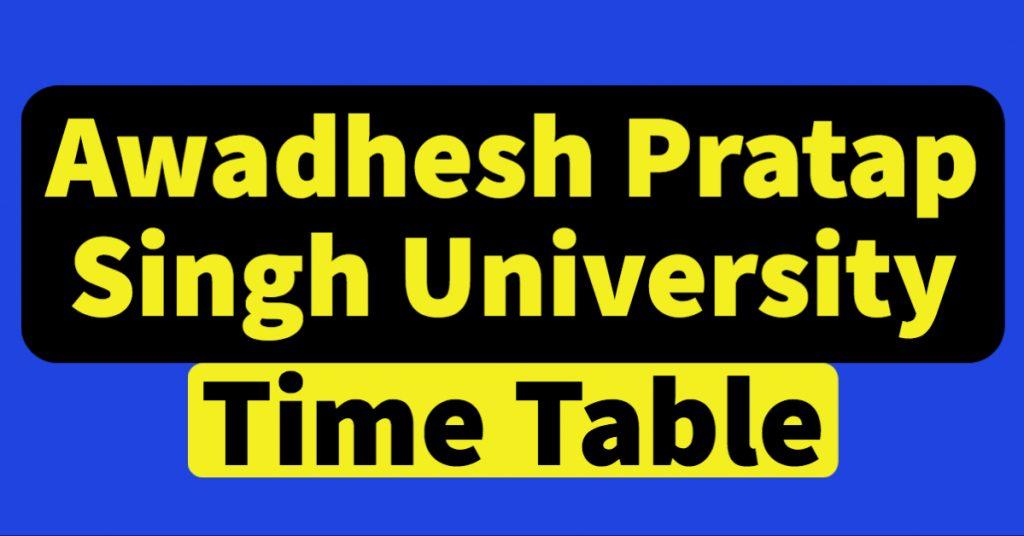 APSU time table 2021