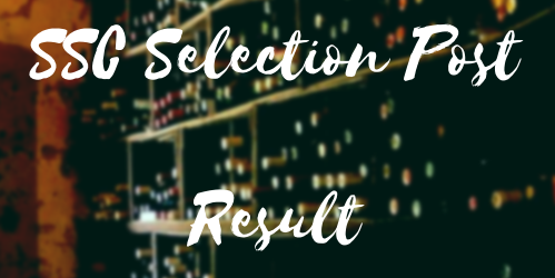 SSC Selection Post 8 Result 2021