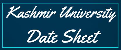 kashmir university date sheet 2021