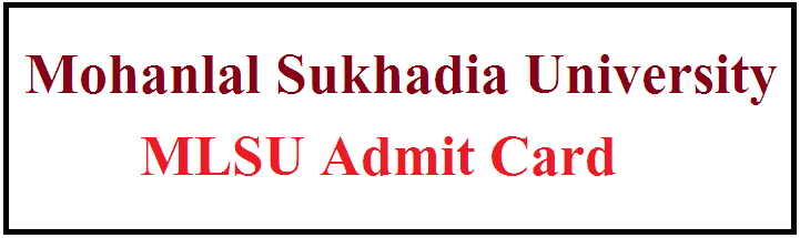 MLSU Admit Card 2021