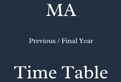 ma time table 2021