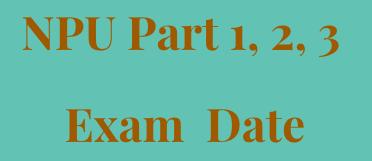 npu exam date 2021