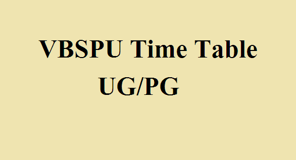 VBSPU Time Table 2121