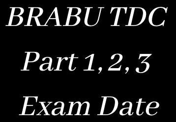 brabu exam date 2021