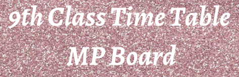 9th Class Time Table 2021 MP Board