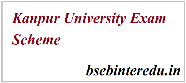 Kanpur University Scheme 2021