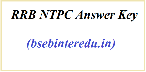 RRB NTPC Answer Key 2021
