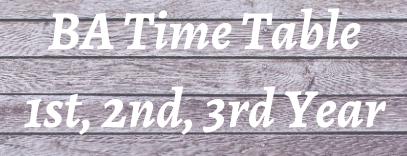 ba time table 2021