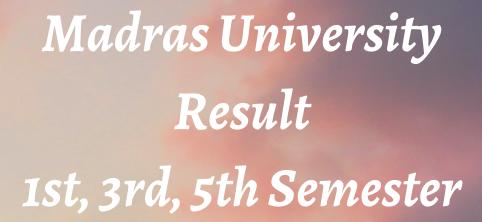 madras university result 2021