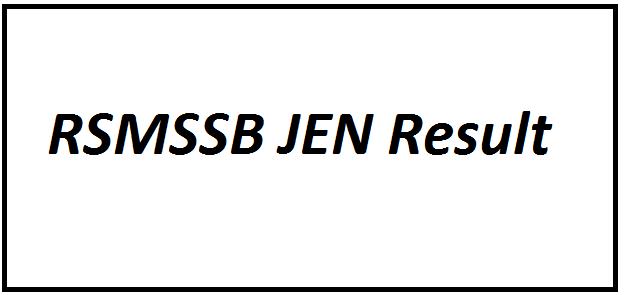 RSMSSB JEN Result 2021